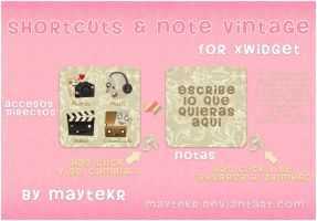 Shortcuts and Note Vintage for XWidget by MayteKr
