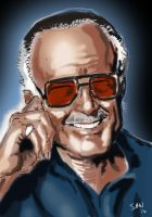 Happy birthday Stan Lee! by Simon-Williams-Art