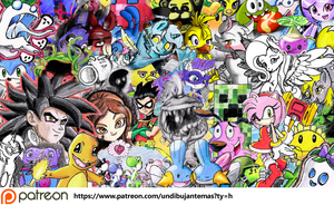 collage drawings 2015 by vicockart