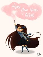 happy new year 2016 by Ellanaa