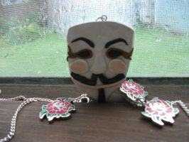 V for Vendetta Necklace by IoniaFreak