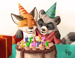 Our birthday by artbiro