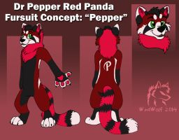 Dr Pepper Fursuit Concept by WindWo1f