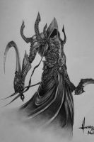 Diablo III Malthael drawing by TolleaM