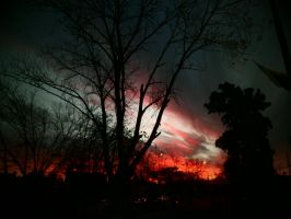 The sky is burning by Mheely