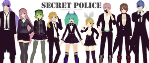 MMD PD Vocaloid - Secret Police + Link Download by AkikoKamui97