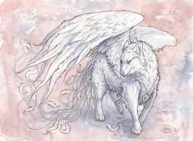 The White Wolf by Kitsune-Seven