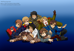 Hetalia Latin Powers -wallpaper- by xOtakuStarx