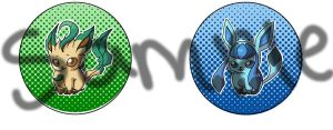 New Revamped Buttons Eeveelutions 2 by R3YD1O