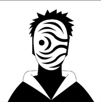Obito mask silhouette by shubham030296
