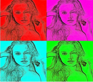 Sonya Gorelova In Pop Art-5 by freddie64