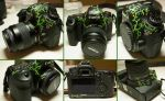 Custom Canon Camera - Vines and Flowers by elvaniel