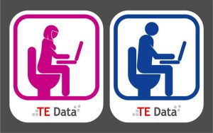 TE Data Toilet signs by msalah