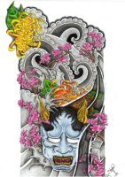 Hannya Sleeve by ryanschipper89