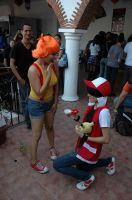 Red Proposing to Misty by Jou06