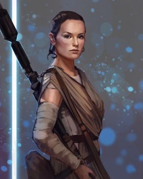 Star Wars_Rey by PolliPo