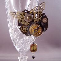 PocketWatch and Wings Pendant by DreamSteam
