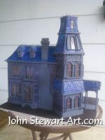 Addams Family house scale model for sale by johnstewartart