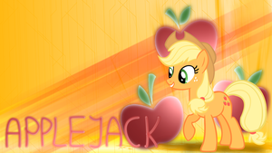 Applejack Wallpaper v2 by ThePunkyRabbid