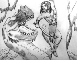 Conan and the Dragon by BrandonSPilcher