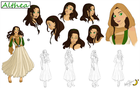 Althea - Reference Sheet by BananaWork