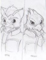 Fox and Falco sketch by phersopiers