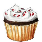 Peppermint bark cupcake by torstan