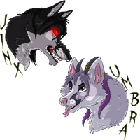 FF Badges- Jinx and Umbra by The-Shy-Violinist