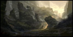 The Divided Mountain by SebastianWagner