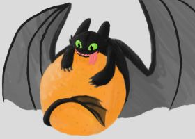 Toothless Loves Orange by DragonOfEclipse
