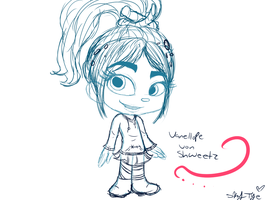 Vanellope sketch by SkyTye
