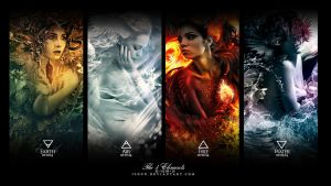 The 4 Elements Wallpaper by jsonn