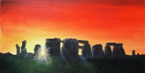 Stonehenge Sunset by georgmaxklein