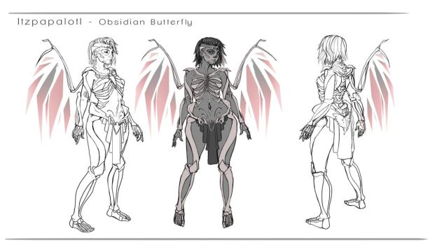 Obsidian Goddess design by DreamerWhit