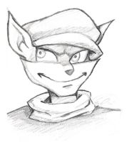 Sly Cooper Sketch by GoldenMuseX