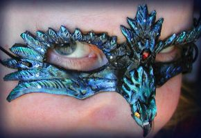 Blue Grackle Mask by Namingway