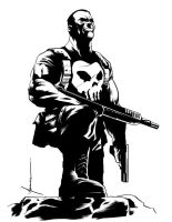 Punisher Pin Up by moramike