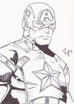 Movie Captain America - ACEO- by Jason-Lee-Johnson