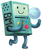 Bmo and bubble by PeppermintBat
