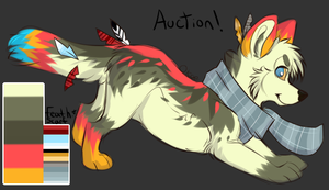 Fall Looking Auction Dog!: CLOSED by SwashbuckIer