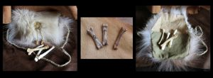 OOAK Wolf bone divination set for sale by lupagreenwolf
