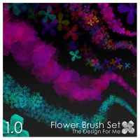 Flower Brush Set - Floral by thedesignforme