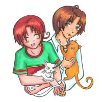Italy Brothers and Kitties by Kasandra-Callalily