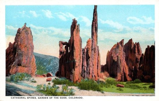 Cathedral Spires, Garden of the Gods, CO by Yesterdays-Paper