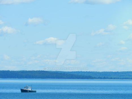 Bay Harbor Maine -  The Little Boat by KyranNyx