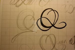 Typeface Sketches 6 by Weegraphicsman