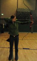 Archery - Full Draw Front 2 by Bladewing-Stock