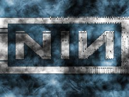 NIN Logo Industrial Wallpaper by GuRt1337