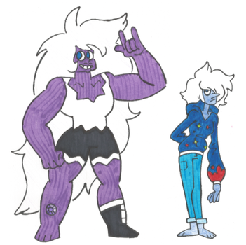 Amethyst and Night Blue Pearl by EchoDitto
