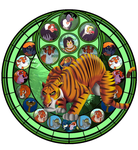 Stained Glass Shere Khan by IlSelma